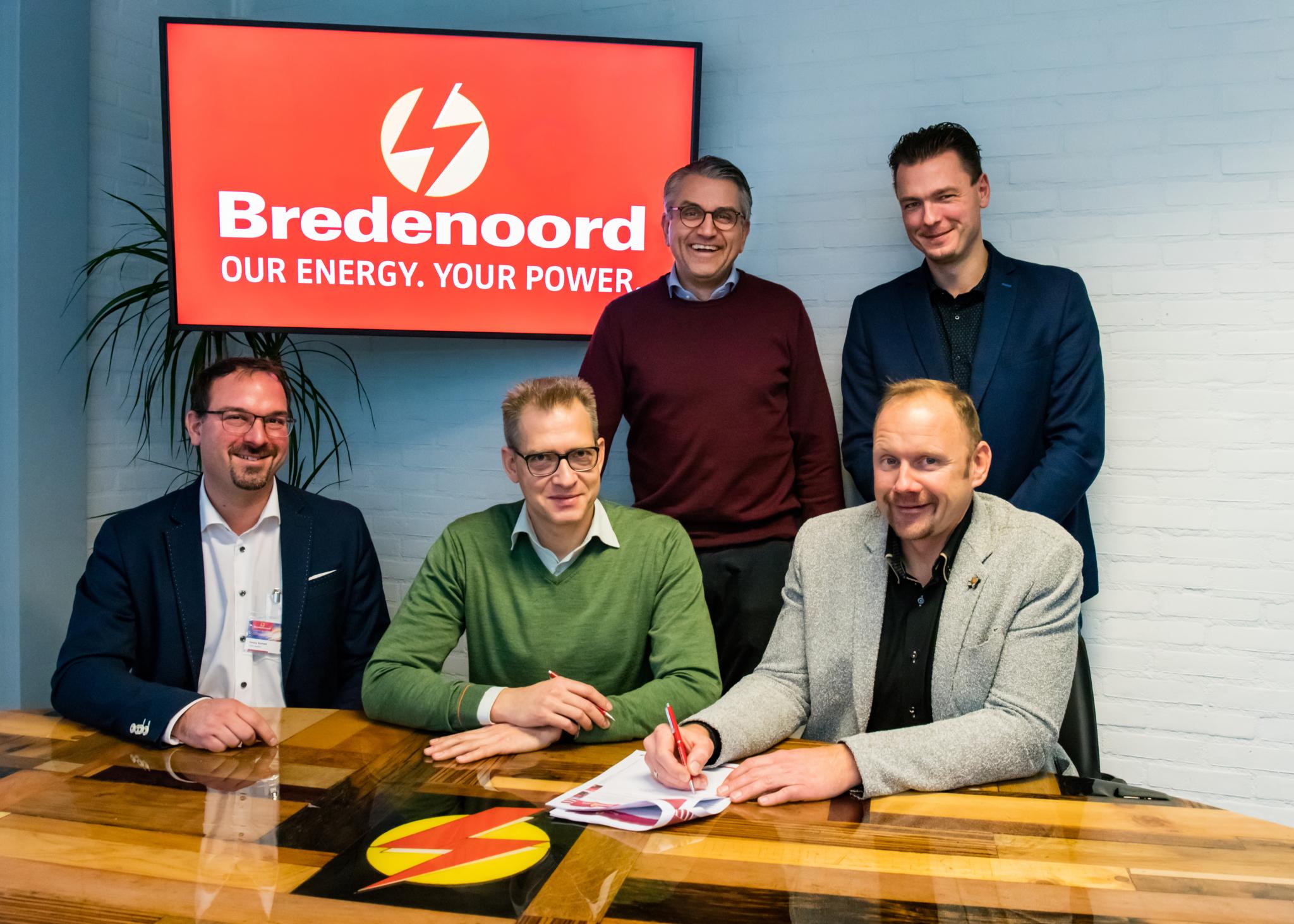 Op de foto van links naar rechts, staand: Toon Bruining en Jans Havinga en zittend: Georg Bornett, Jaap Fluit en Andreas Kohl