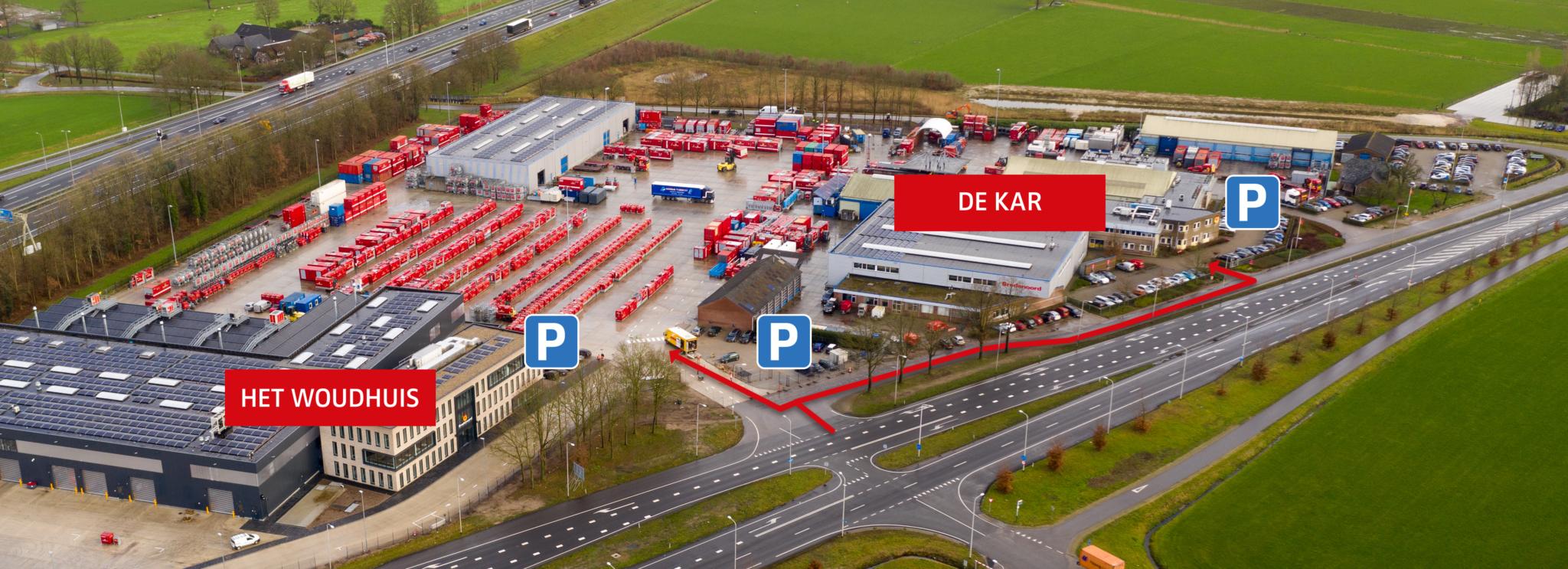 De nieuwe situatie op het terrein van Bredenoord.